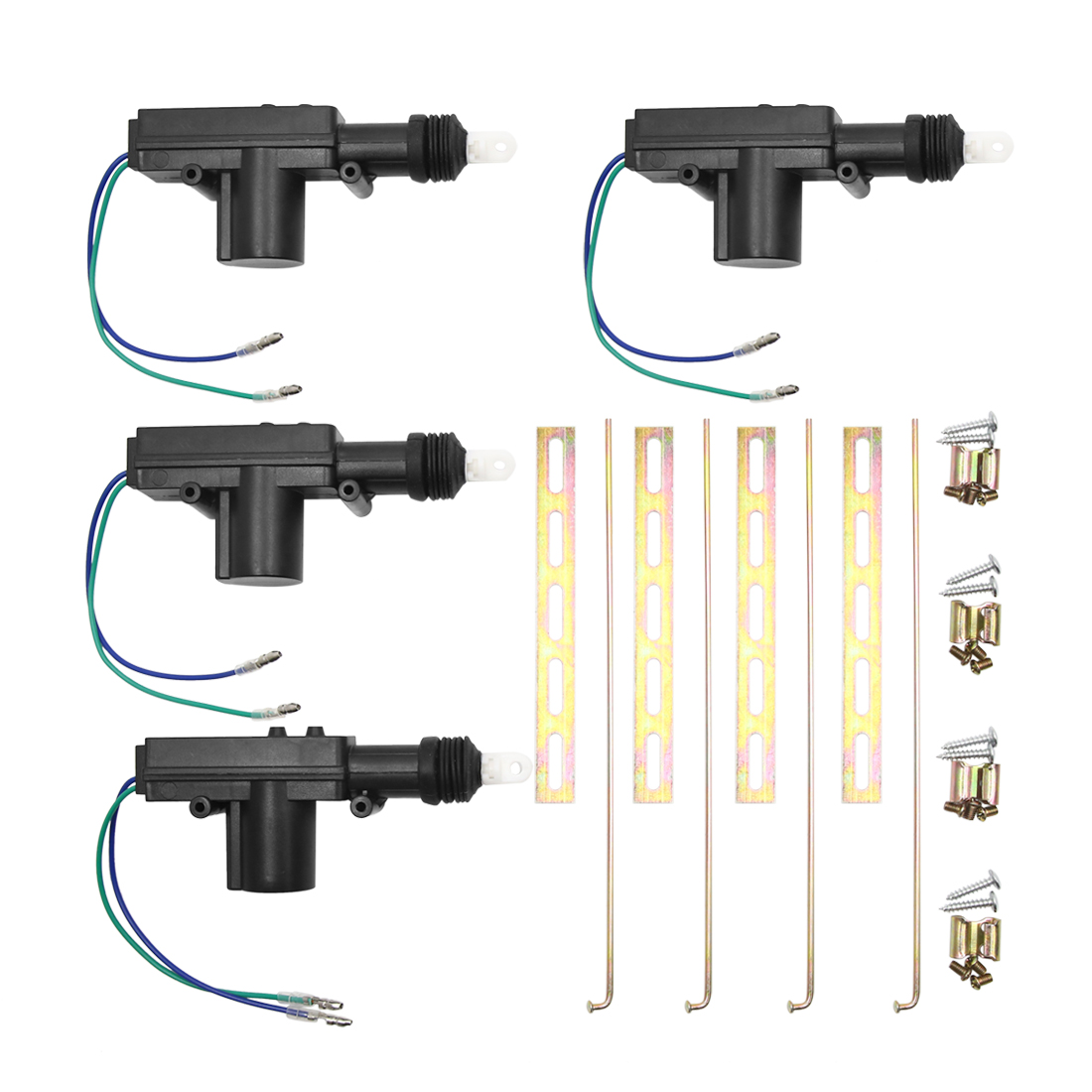 4pcs DC 12V Unviersal Car Central Locking System 2 Wire Power Door Lock Actuator