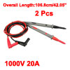 2pcs 42.05'' Test Leads Probe for Digital Multimeters Oscillometer 1000V 20A 4mm Banana Plug