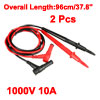 2pcs 37.8'' Test Leads Probe for Digital Multimeters 1000V 10A 4mm Banana Plug Ultra Sharp