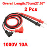 2pcs 27.56'' Test Leads Probe for Digital Multimeters 1000V 10A 4mm Banana Plug