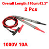 2pcs 43.3'' Test Leads Probe for Digital Multimeters 1000V 10A 4mm Banana Plug