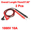 2pcs 27.56'' Test Leads Probe for Digital Multimeters Oscillometer 1000V 10A 4mm Banana Plug