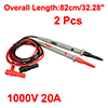 2pcs 42.52'' Test Leads Probe for Digital Multimeters Oscillometer 1000V 20A 4mm Banana Plug