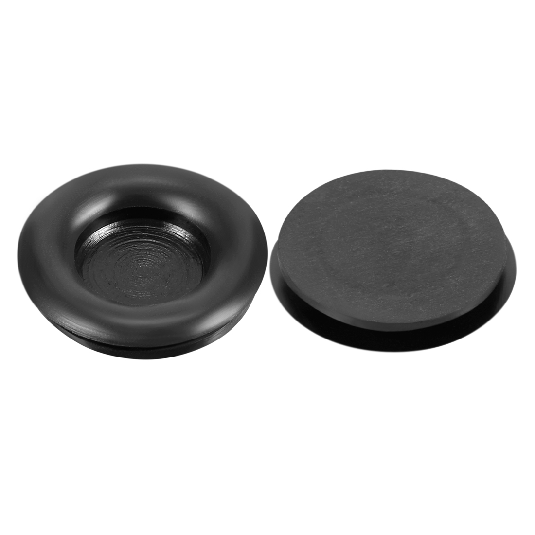 Wire Protector Oil Resistant Rubber Grommets 18mm Mounting Dia 10Pcs Black