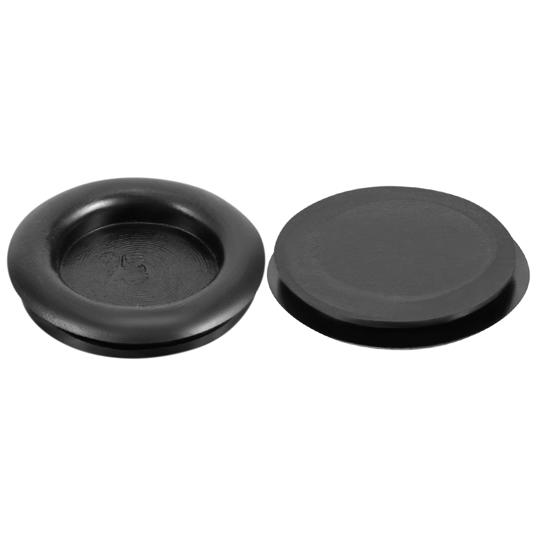 Wire Protector Oil Resistant Rubber Grommets 25mm Mounting Dia 20Pcs Black Color