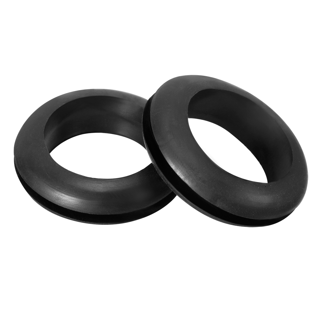 Wire Protector Oil Resistant Armature Rubber Grommet 22mm Mounting 200Pcs Black