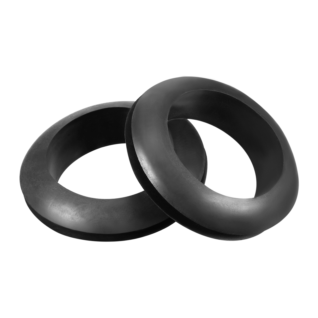Wire Protector Oil Resistant Armature Rubber Grommet 27mm Mounting 20Pcs Black