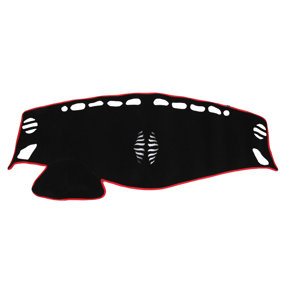 Black Red Polyester Dashboard Sun Cover Dash Mat Carpet Pad for 15 Nissan