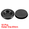 Wire Protector Oil Resistant Armature Rubber Grommets 14mm Mounting Dia 10Pcs Black