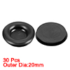 Wire Protector Oil Resistant Armature Rubber Grommets 14mm Mounting Dia 30Pcs Black