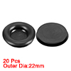 Wire Protector Oil Resistant Armature Rubber Grommets 16mm Mounting Dia 20Pcs Black