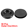 Wire Protector Oil Resistant Armature Rubber Grommets 18mm Mounting Dia 30Pcs Black