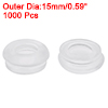 0423 Wire Protector Oil Resistant Armature Rubber Grommets 9mm Mounting Dia Clear 1000 Pcs