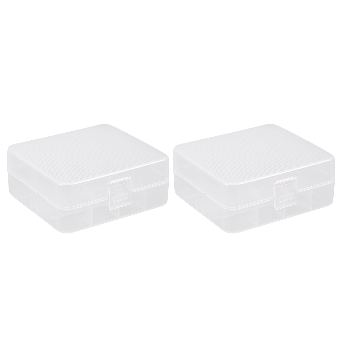 2 Pcs Battery Storage Case Holder Storage Transparent 2 x 26650 Battery Capacity