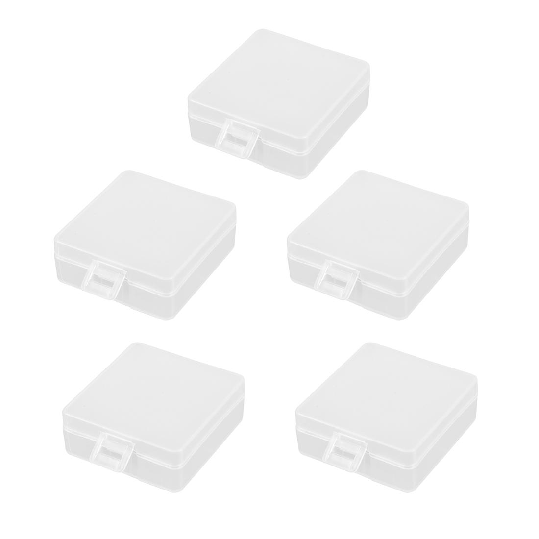 Battery Storage Case Holder Transparent For 2x9V Battery Capacity 5pcs