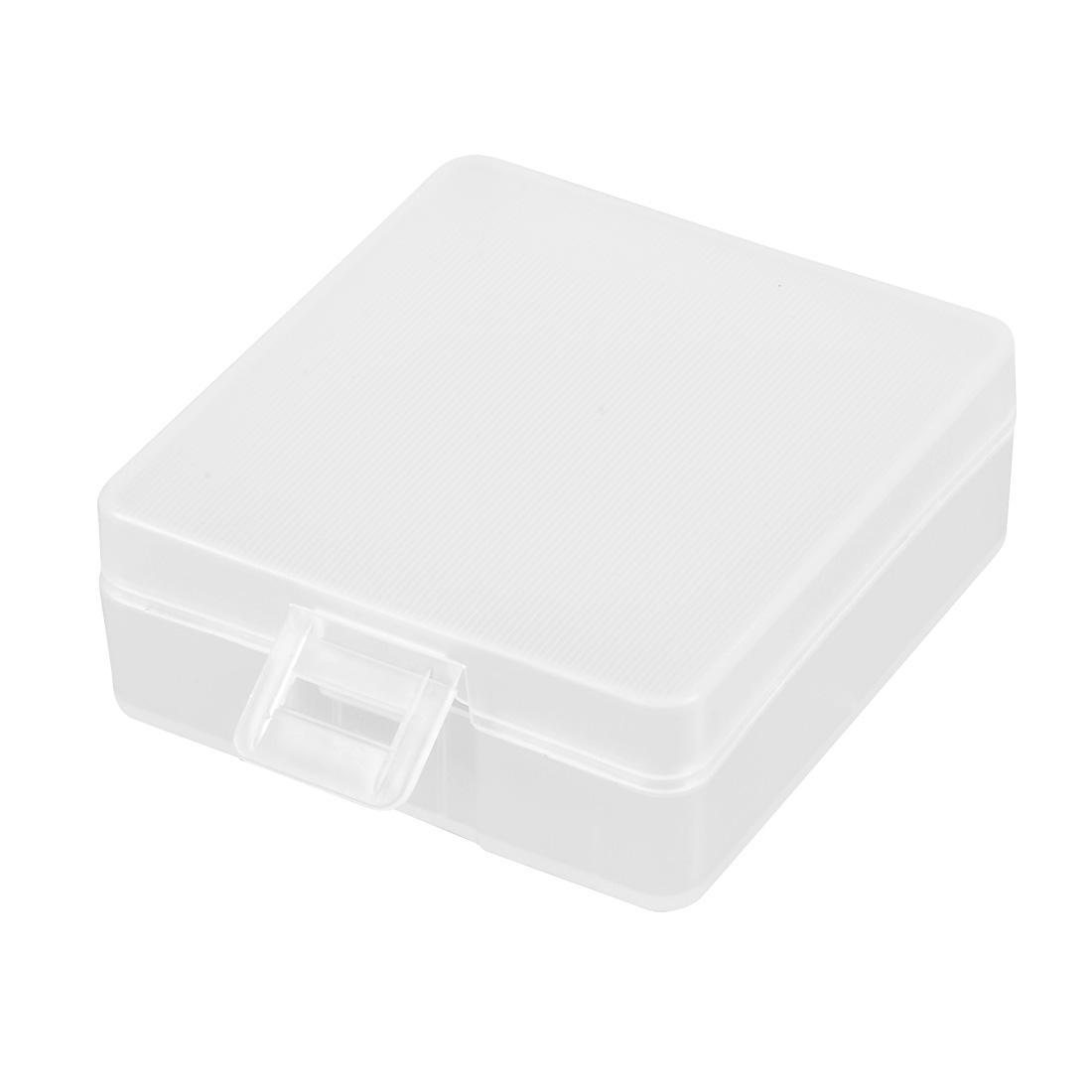 Battery Storage Case Holder Transparent For 2 x 9V Battery Capacity