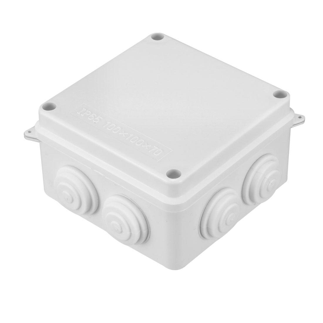 100 x 100 x 70mm Electronic Plastic DIY Junction Box Enclosure Case White