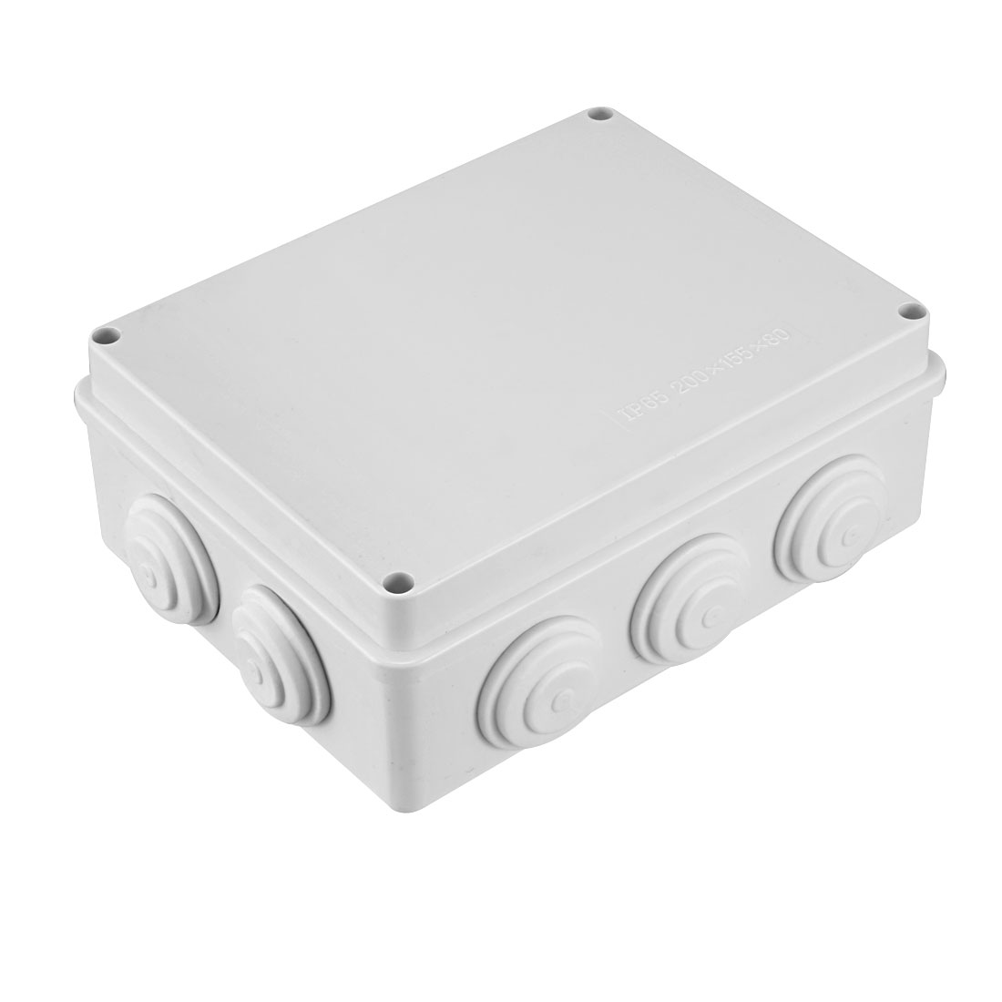 200 x 155 x80mm Electronic Plastic DIY Junction Box Enclosure Case White