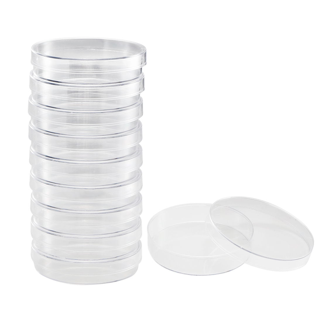 Plastic Petri Dish Plates Tissue Culture Plate, 70mm OD, 16mm Height, 10 Pack