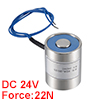 20mm x 25mm DC24V 0.1125A 4.05W 30N Sucking Disc Solenoid Lift Holding Electromagnet
