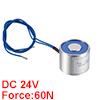 25mm x 20mm DC24V 0.1A 2.4W 60N Sucking Disc Solenoid Lift Holding Electromagnet