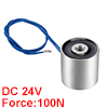 25mm x 25mm DC24V 0.1A 2.4W 100N Sucking Disc Solenoid Lift Holding Electromagnet