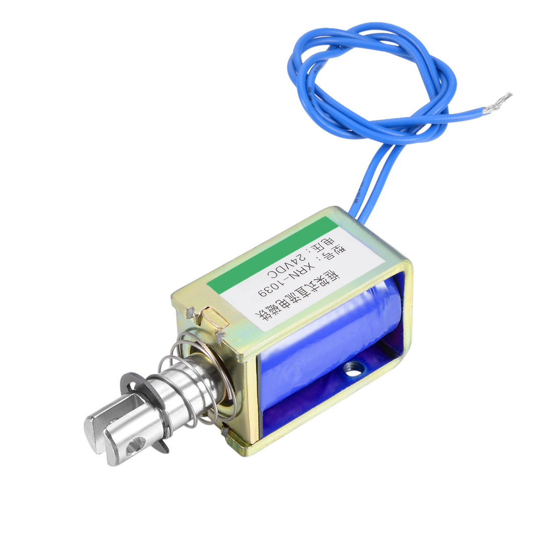 XRN-1039 DC 24V 0.8A 25N 19.2W 10mm Pull Type Open Frame Solenoid Electromagnet