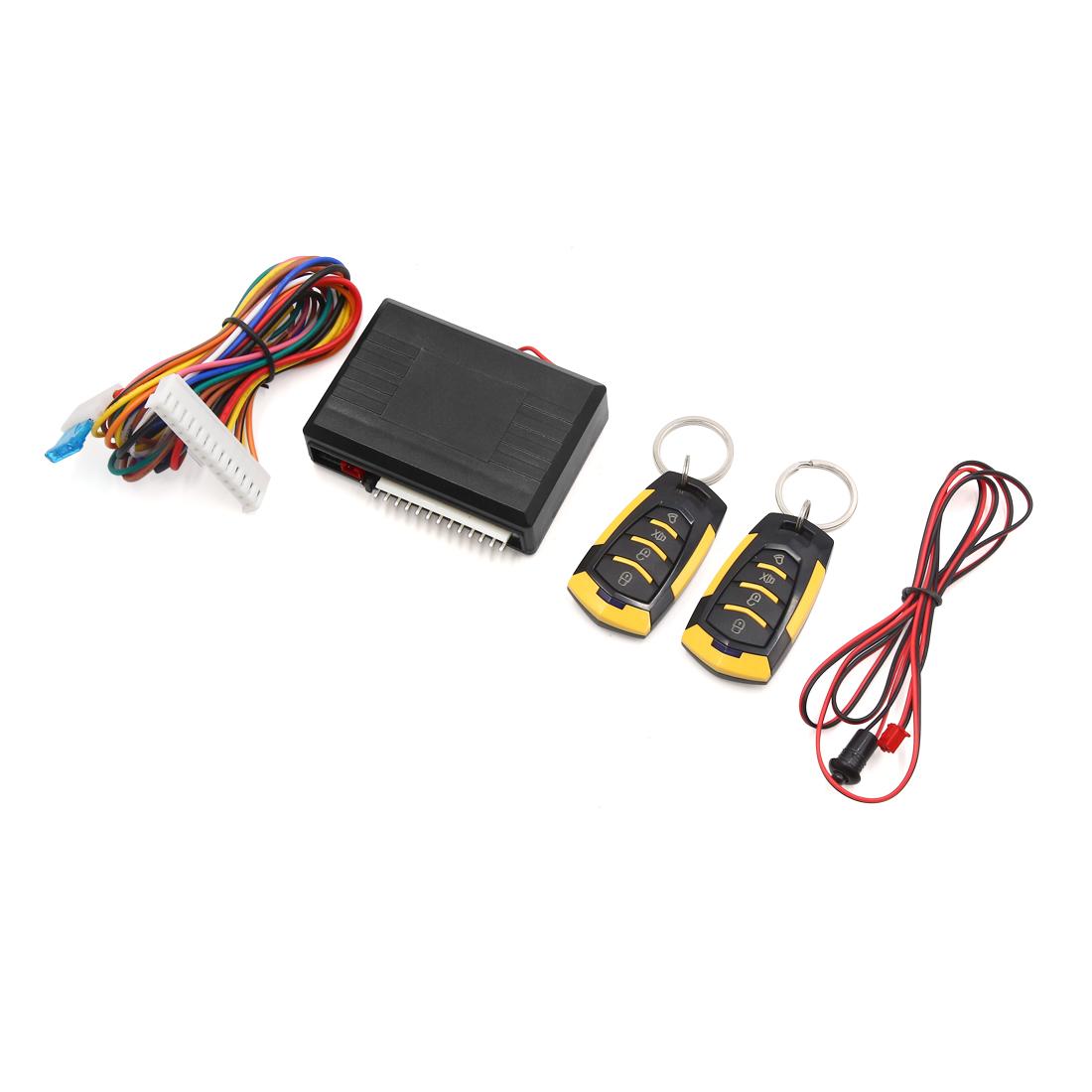 12V Automobile Car Central Door Locking Keyless Entry System w Remote Control