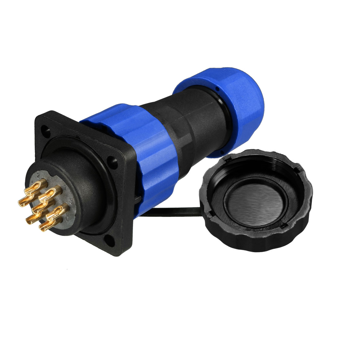 Aviation Connector, 7P 20.5mm 10A 380V SD20-7 Waterproof Male Line Panel Power