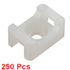Cable Tie Base Saddle Type Wire Holder Nylon 5mm Hole Width White 250Pcs STM-1