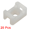 Cable Tie Base Saddle Type Wire Holder Nylon 5mm Hole Width White 20Pcs STM-1