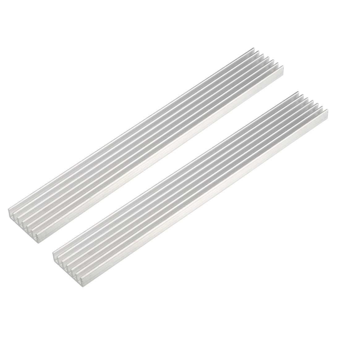 Aluminum Heatsink Cooler Circuit Board Cooling Silver Tone 150mmx20mmx6mm 2Pcs