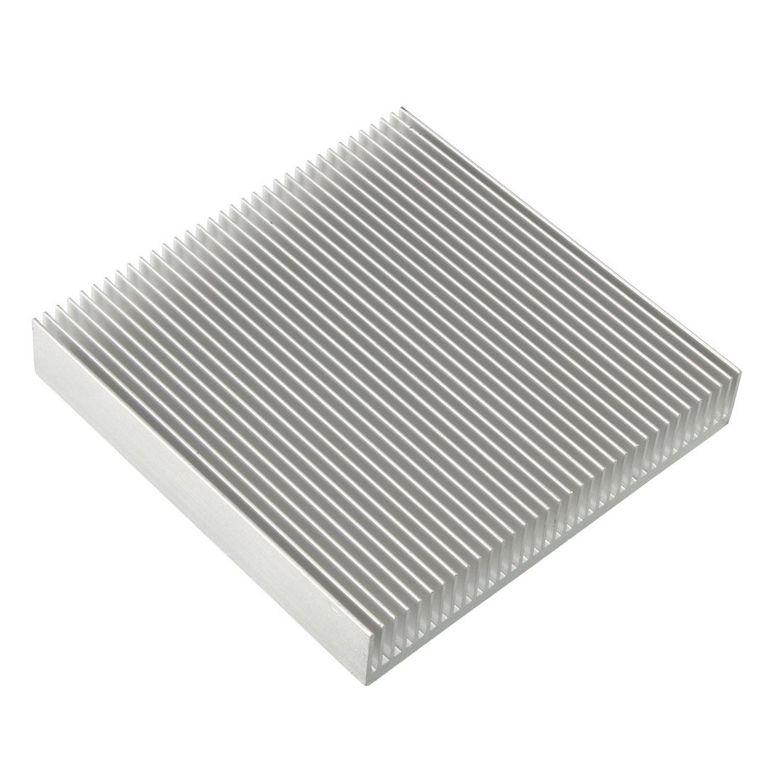 Aluminum Heatsink Cooler Circuit Board Cooling Fin Silver Tone 90mmx90mmx15mm