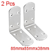 2pcs 85mmx85mmx38mm Stainless Steel Corner Brace Joint L Shape Right Angle Bracket Fastener