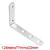 125mmx77mmx20mm Stainless Steel Corner Brace Joint L Shape Right Angle Bracket Fastener