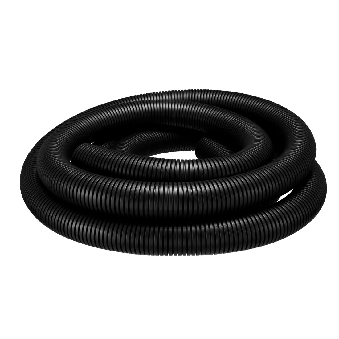 6M 42.5mm Outer Dia Corrugated Bellow Conduit Tube PP Polyethylene Tubing Black