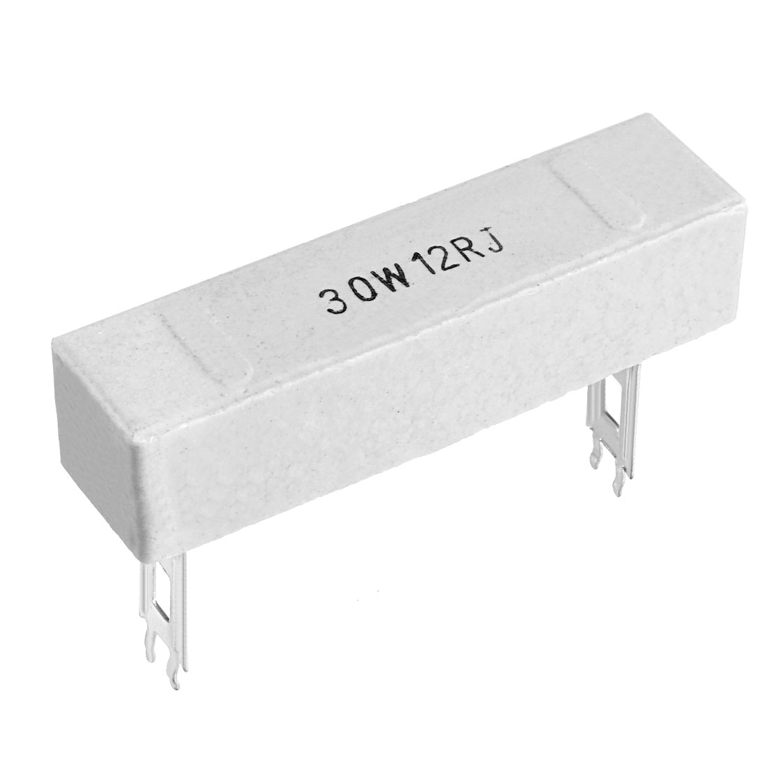 30W 12 Ohm Power Resistor Ceramic Cement Resistor Axial Lead White