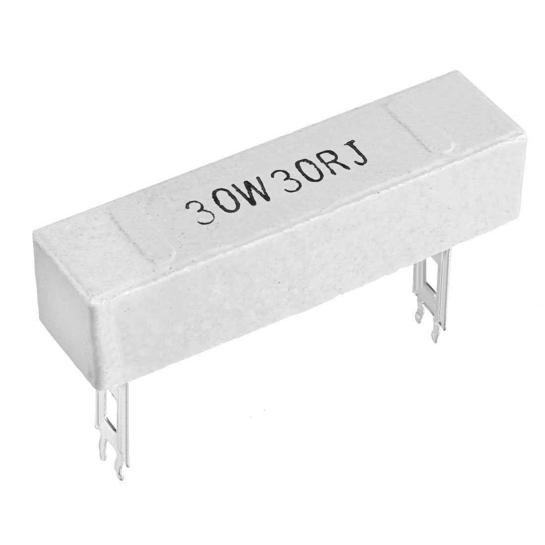 30W 30 Ohm Power Resistor Ceramic Cement Resistor Axial Lead White