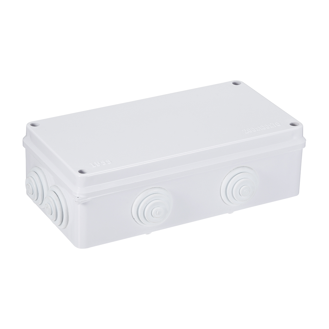 205 x 108 x 72mm Electronic ABS Plastic DIY Junction Box Enclosure Case Gray