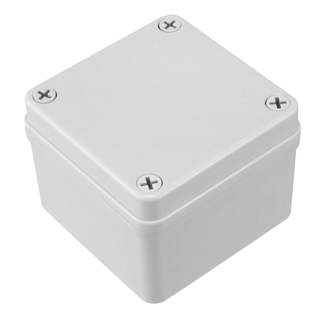 100 x 100 x 75mm Electronic ABS Plastic DIY Junction Box Enclosure Case Grey