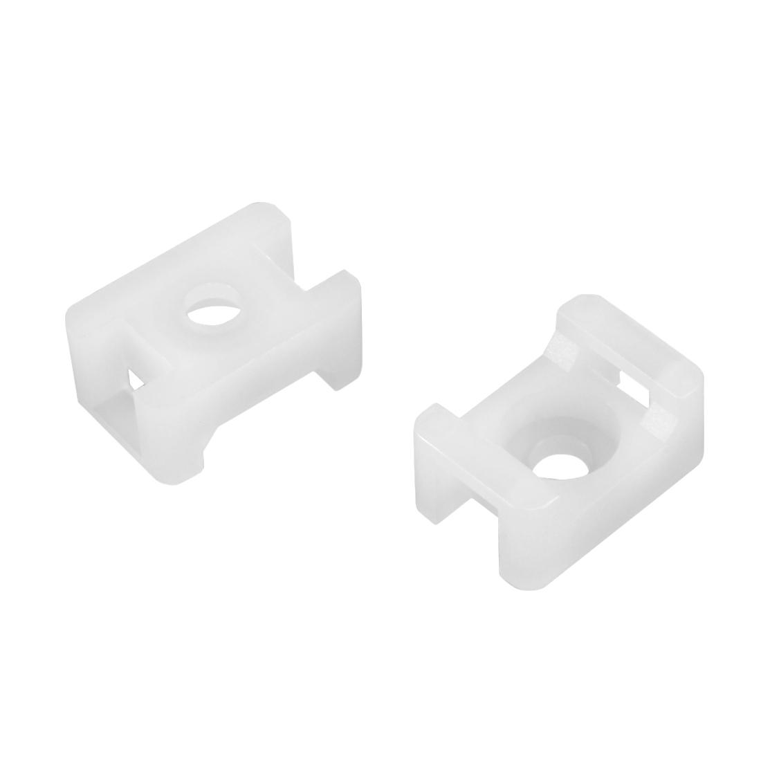 Cable Tie Base Saddle Type Wire Holder Nylon 5.2mm Hole Width White 60Pcs HC-1