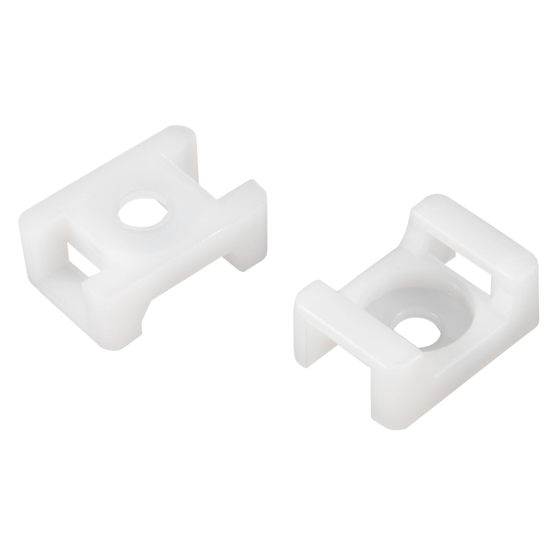 Cable Tie Base Saddle Type Wire Holder Nylon 9mm Hole Width White 26Pcs HC-2S