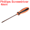 #0(PH0) Phillips Screwdriver 4 Inch Round Shaft Magnetic