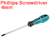 #0 Phillips Screwdriver 4 Inch Round Shaft Non Slip Comfortable Handle