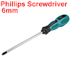 #2 Phillips Screwdriver 6 Inch Round Shaft Non Slip Comfortable Handle