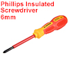 1000v Phillips Insulated Magnetic Tip Electrical Screwdriver #2 x 4 Inch