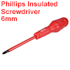 1000v Phillips Insulated Magnetic Electrical Screwdriver #2 x 4 Inch