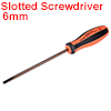 6mm Slotted Screwdriver 6 Inch Round Shaft Magnetic