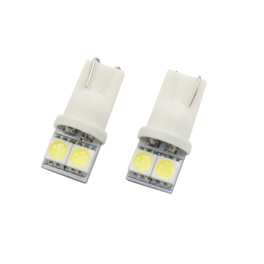 2pcs 0.4W 12V 5050 T10 6000K 20lm Power Car White LED Dashboard Panel Light Bulb