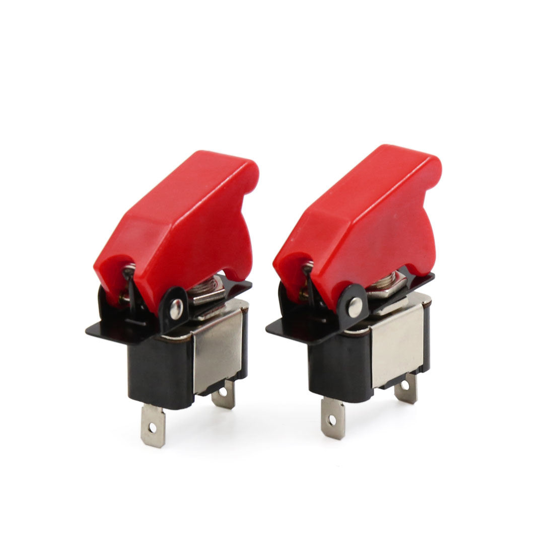 2pcs DC 12V 20A Red Cover Car ON/OFF SPST Light Rocker Toggle Control Switch